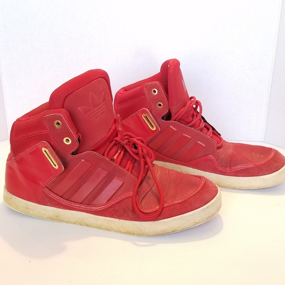 ADIDAS Mens Red High Tops 11.5